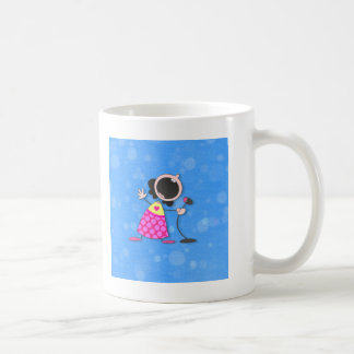 女王青いカラオケ コーヒーマグカップ