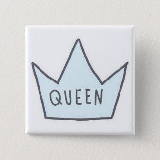 「女王」ボタン 5.1CM 正方形バッジ