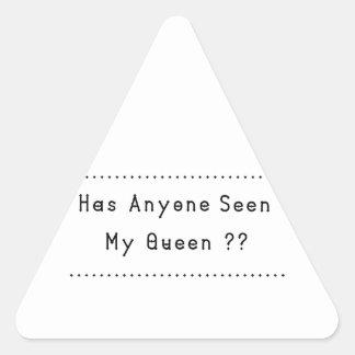 女王 三角形シール