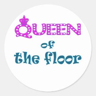 女王|床 丸形シール・ステッカー