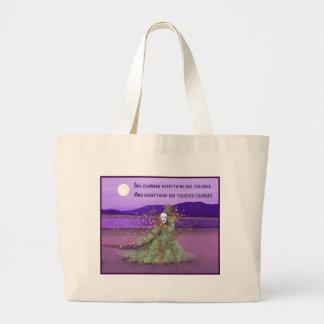 女神および月 ラージトートバッグ