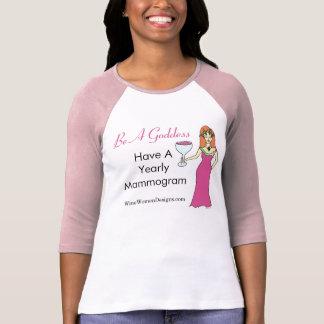 女神があって下さい、マンモグラムのワインの女神BCAを持って下さい Tシャツ