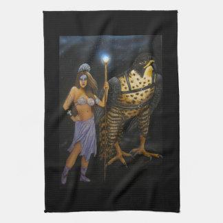 女神のアクリルの絵画タオル ハンドタオル