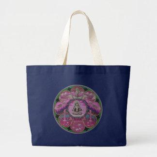 女神のタラの曼荼羅 ラージトートバッグ