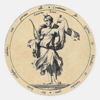 女神のルナの月 ラウンドシール