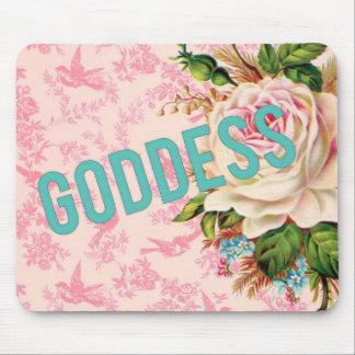 女神のヴィンテージのピンクのバラのmousepad マウスパッド