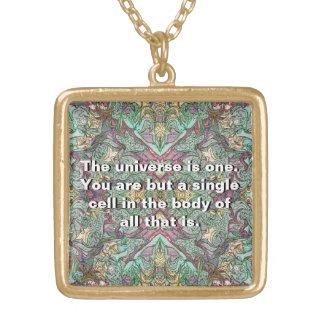 女神の意識 ゴールドプレートネックレス