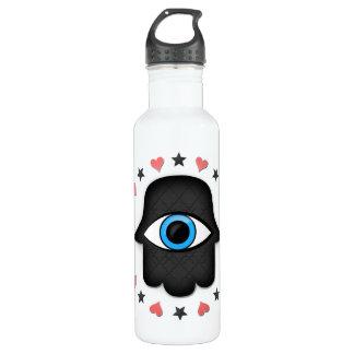 女神の手元のhamsaのkhamsaの目 ウォーターボトル