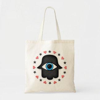 女神の手元のhamsaのkhamsaの目 トートバッグ