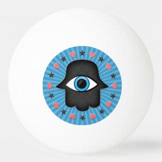 女神の手元のhamsaのkhamsaの目 卓球ボール