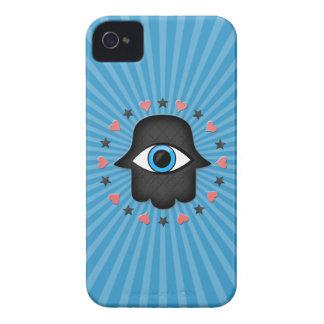 女神の手元のhamsaのkhamsaの目 Case-Mate iPhone 4 ケース