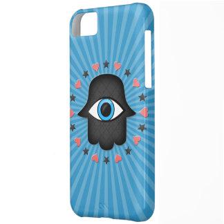 女神の手元のhamsaのkhamsaの目 iPhone5Cケース