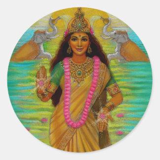 女神のLakshmiのステッカー ラウンドシール