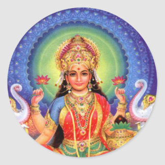 女神のLakshmiの固まり ラウンドシール