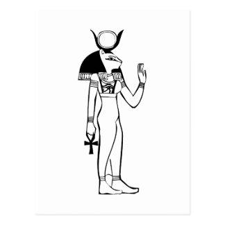 女神、エジプトのヒエログリフ ポストカード
