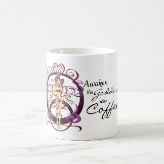女神、紫色、リボン、芸術、マグ、コーヒー、茶 コーヒーマグカップ