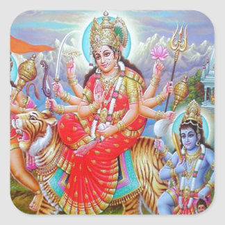 女神Durga Ji スクエアシール