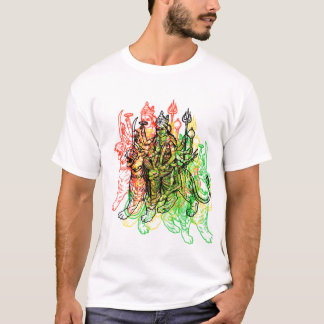 女神Durga Tシャツ