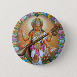 女神Saraswati 缶バッジ