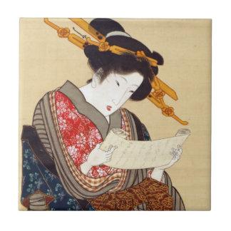女、国貞の女性、Kunisada、Ukiyo-e タイル