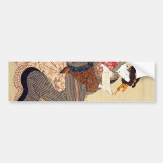 女、国貞の女性、Kunisada、Ukiyo-e バンパーステッカー