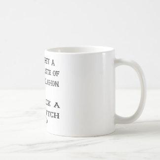 好みの宗教を舐めます魔法使いを得て下さい コーヒーマグカップ