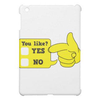 好みますか。 yesかいいえ iPad mini カバー