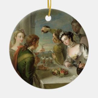 好み、c.1744-47 (キャンバスの油)の感覚(見て下さい セラミックオーナメント