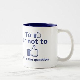 好むか、または好まないため ツートーンマグカップ
