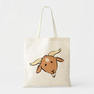 好奇心が強いヤギの顔 トートバッグ