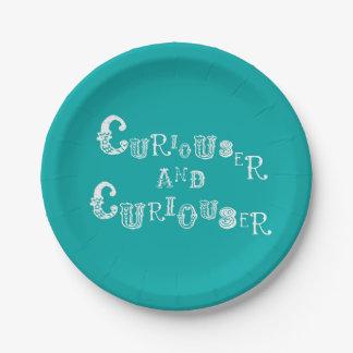 好奇心が強い不思議の国の紙皿のアリス ペーパープレート