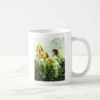 好奇心が強い妖精-妖精およびToadstools コーヒーマグカップ
