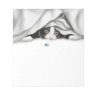 好奇心が強い子ネコのメモ帳 ノートパッド