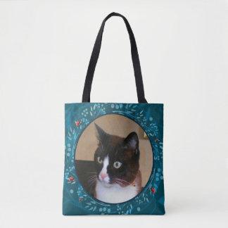 好奇心が強い子猫猫の監視てんとう虫 トートバッグ