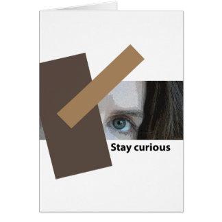 好奇心が強い滞在 カード