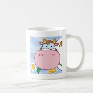 好奇心が強い牛 コーヒーマグカップ