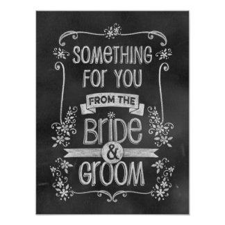 好意のテーブルのためのチャーミングな黒板の結婚式の印 ポスター