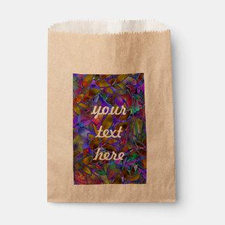 好意のバッグの花柄の抽象芸術のステンドグラス フェイバーバッグ