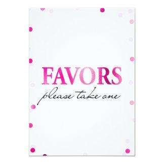 好意のブライダルシャワーの印|のピンクのマゼンタの紙吹雪 カード