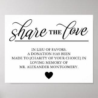 好意の結婚の愛代理を共有して下さい ポスター