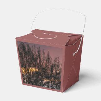 好意箱の日没の木の写真を取って下さい フェイバーボックス