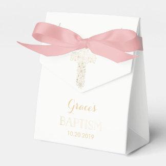 好意箱-女の子--に洗礼を施す洗礼金ゴールドの十字 フェイバーボックス
