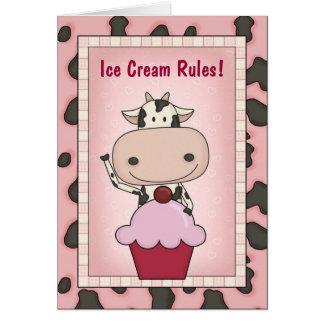 妊娠したアイスクリームの恋人 カード