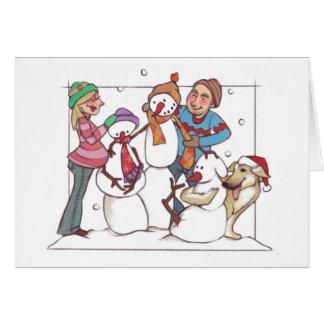 妊娠した雪だるまNotecard カード