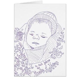 妊娠の損失の悔やみや弔慰カード カード
