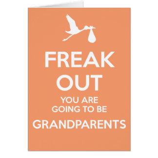 妊娠の発表がある新しい祖父母 グリーティングカード