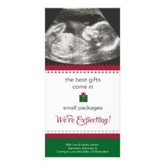 妊娠の発表のクリスマスカード カード