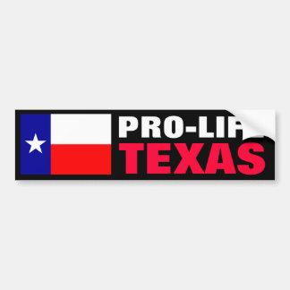 妊娠中絶反対のテキサス州 バンパーステッカー