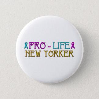 妊娠中絶反対のニューヨーカー 5.7CM 丸型バッジ