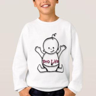 妊娠中絶反対のベビー スウェットシャツ